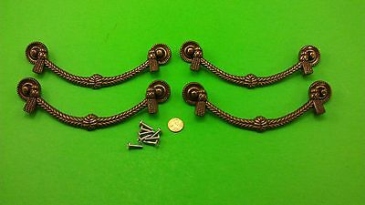 Antique Vintage Bronze Jumbo Dresser Drawer Handles