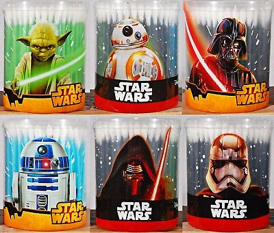 Star Wars Reclosable Containers 6 Choices - Disney -  150 Count Cotton Swabs