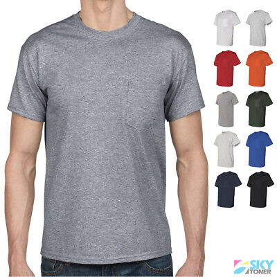 Gildan DryBlend 50/50 Pocket Tee Plain Blank Solid Short Sleeve T-Shirt 8300 NEW