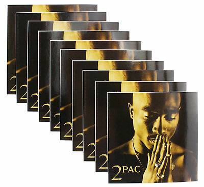 10 x 2Pac Logo Praying Hands Official Vinyl Stickers