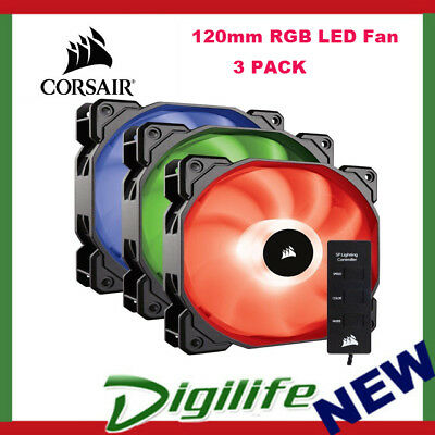 Corsair SP120 RGB LED High Performance 120MM Fan - 3 Pack with Controller
