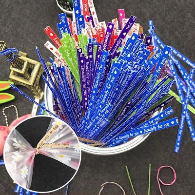 Chic 700X Metallic Twist Ties String for Candy Lollipop Cake Bag Party Wrapper