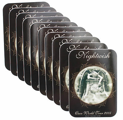 10 x Nightwish Once World Tour 2005 Official Rock Metal Band Vinyl Stickers