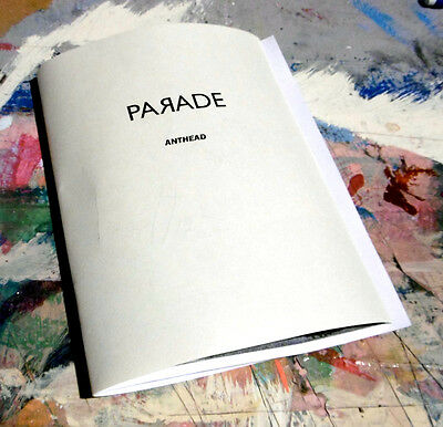 """anthead """"parade"""" art  book 4.25X5.5 12 pages zine paper signed paint graffiti"""