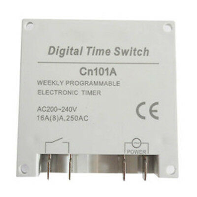 AC 220V-240V 16A LCD Digital Programmable Control Power Timer Time Switch  Hot