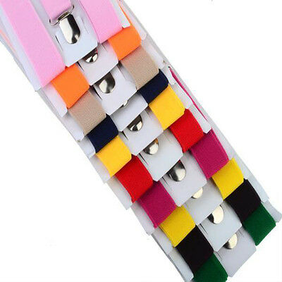 1PCS Toddler Clip-on Suspenders Elastic Adjustable Brace Children Kids Boy Girls