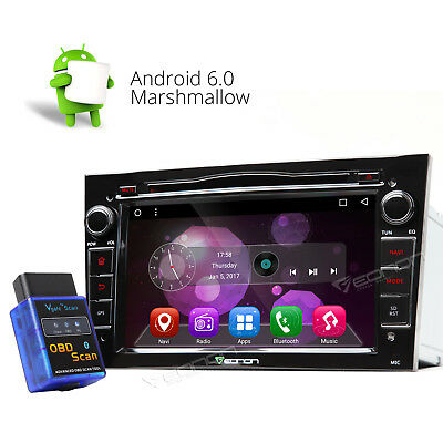 Android 6.0 2Din Car DVD Player GPS Navigation FM for Opel Vectra Astra W OBD-II
