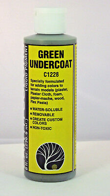 Woodland Scenics Green Undercoat Color #C1228 8 fl oz Water Soluble Mixable USA