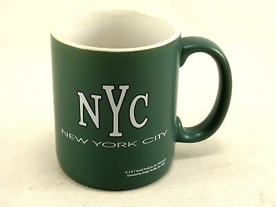 NYC New York City Green and White Mat Finish Coffee Mug Cup