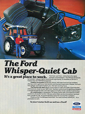 1987 Ford 7710 Whisper Quiet Cab Farm Tractor Print Ad