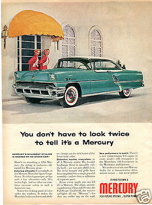 1955 Ford Mercury Monticlair Sport Coupe Print Ad