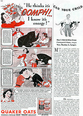 1941 Quick Quaker & Mother's Oats Year Round Breakfast Print Ad