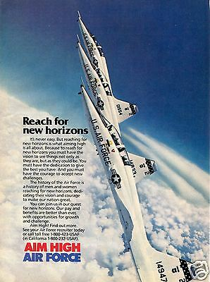 1988 USAF Air Force Recruiting Print Ad Aim High