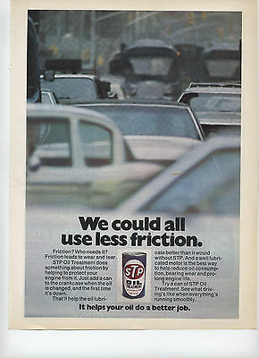 1975 STP Oil Treatment Racers Edge We Could All Use Less Friction Print Ad