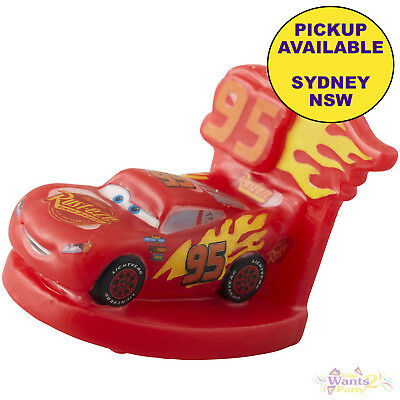 Disney Cars 3 Party Supplies 3D Molded Lightning Mcqueen Birthday Candle Topper