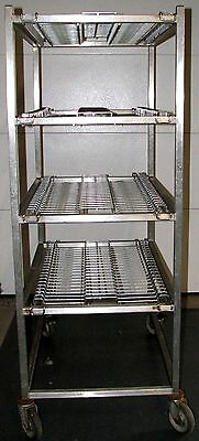 Alladin Temp Rite Plate Dome Mobile Storage Rack Shelves Heat On Demand