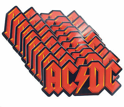 10 x AC/DC Die Cut Logo Official Rock Band Vinyl Stickers