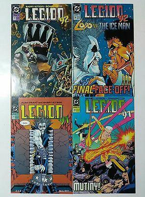 Legion '91 Lot 4 Issues #33,34,38,40, Classic Lobo! Dc 1991, Nm-9.2, Uncertified