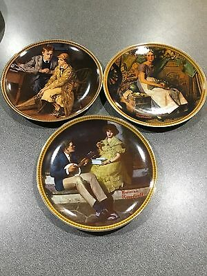 """Knowles Norman Rockwell Collector Plates """"Rockwell's Rediscovered Women"""" Collect"""