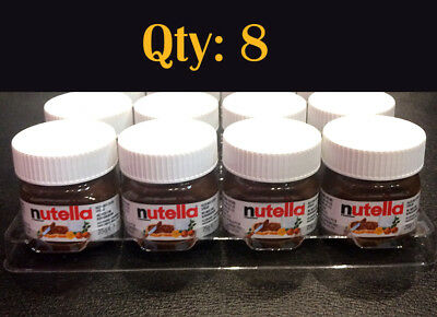 Qty: 8 x Mini Nutella Hazelnut Spread 25g Jar