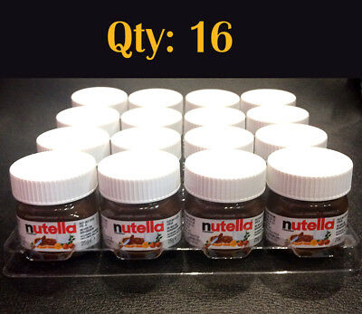 Qty: 16 x Mini Nutella Hazelnut Spread 25g Jar