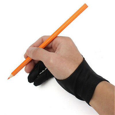 Two Finger Anti-fouling Glove 1pc For Artist Drawing & Pen Graphic Tablet Pad C