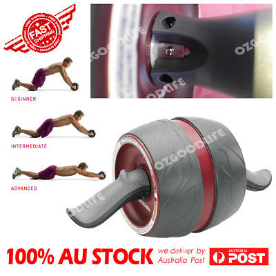 Purple AB Wheel Roller Workout Exercise GYM Fitness 6 Pack Carver by Perfect Fit