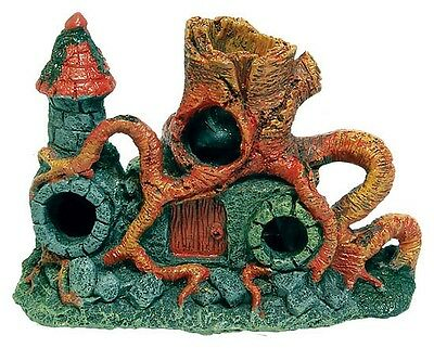 Middle Earth Root Tower Fish House Cave Aquarium Ornament Fish Tank Decoration