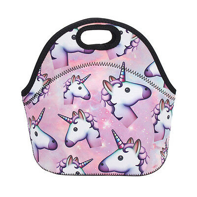 AUSTock Insulated Unicorn Lunch Pack Bag Kids Girl School Picnic Food Cooler Box