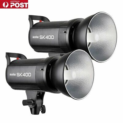 AU 2X Godox SK400 400Ws Professional LED Display Studio Strobe Flash Light 220V
