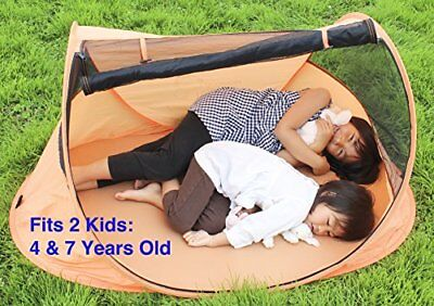 Baby Travel Bed Portable Beach Tent Crib SPF 30+ Sun Shelter Pop Up Net Large