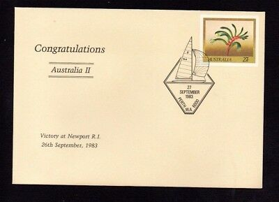 """1982 Australia Pse #051 Cancelled Pictorial Postmark """"america's Cup Victory"""""""