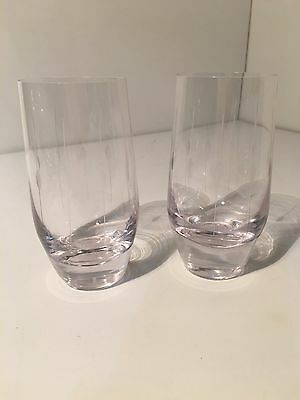 Vintage Etched Tumblers Glasses Pair Water Kitchen
