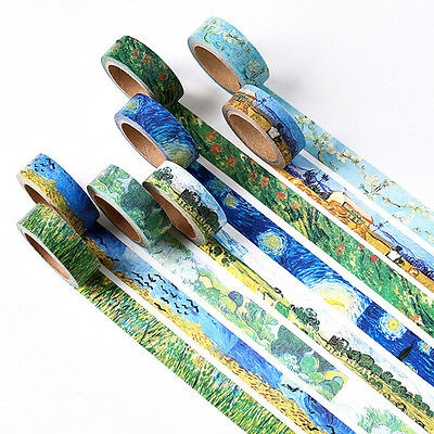 Van Gogh's Painting DIY Paper Sticky Adhesive Sticker Decorative Washi Tapes