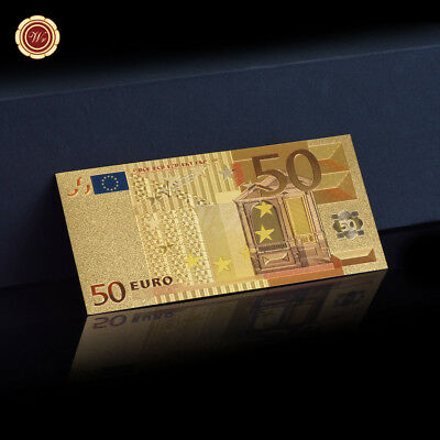 WR 24K Gold Foil €50 Euro Banknote World Paper Money Holiday Collectable Gifts
