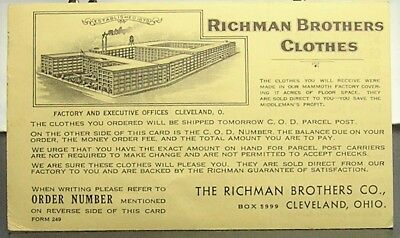 Cleveland, Ohio - Richman Brothers Clothes/Historical events