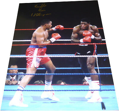 Tim Witherspoon SIGNED AUTOGRAPH Colour 16x12 vs Frank Bruno Boxing AFTAL UACC