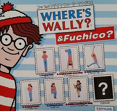 Cup of Fuchiko & find the Wally! set of 7 KITAN CLUB JAPAN