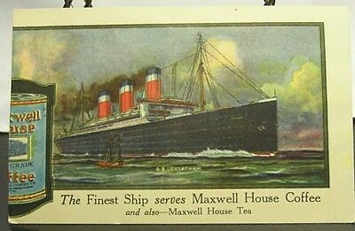 Maxwell House Coffee Vintage Advertising-The Leviathan Steamship