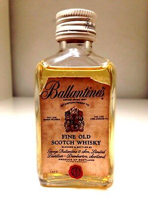 Ballantine's Fine Old Scotch Whisky Rare Circa 1960's Miniature 50mL