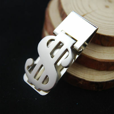 Stainless Steel Dollar Sign Money Clip Cash Card Holder Wallet