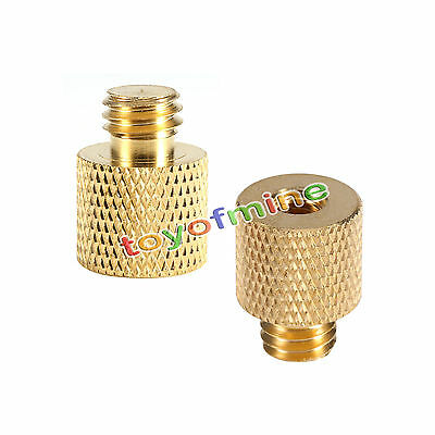 New 3/8'' Female to 1/4'' Male Brass Tripod Thread Reducer Adapter 1pc to Camaro