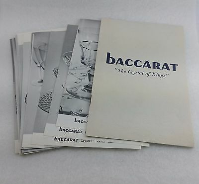 Vintage 1969 Baccarat crystal Prices, pricing guide-pages for 39  patterns, rare