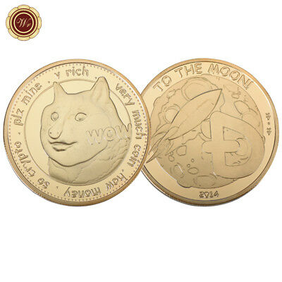 WR 1 Dogecoin (DOGE) To the Moon Very Much Rich Dog Coin Gold Collect Gifts Boy