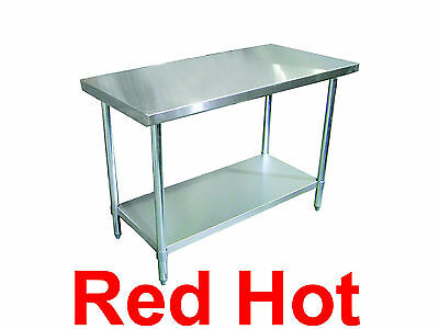 """Omcan 24196 Commercial Stainless Steel 18"""" X 24"""" Kitchen Work Prep Table"""