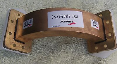 """Andrews E Bend 4"""" by 4"""" NOS WR137G flanges, brass"""