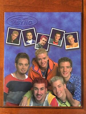 NSYNC 2-Pocket School Folder Justin Timberlake 1999 NEW