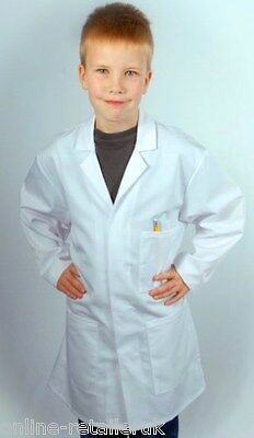 Kids Lab Coat Doctors Scientist Fancy Boys Girls Children Lab Coats