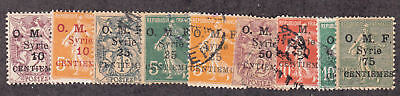 Syria - 1920-23 - SC 54-61,63 - Used/H - Partial set
