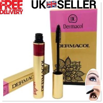 DERMACOL Care & Length Waterproof High Volume Mascara Lashes Black Colour UK